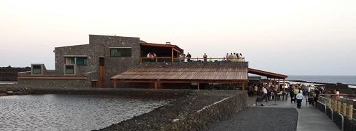 Vista exterior del restaurante El Jardín de la Sal, este jueves, durante su inauguración.